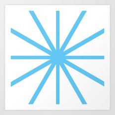 Light Blue Clock Art Print