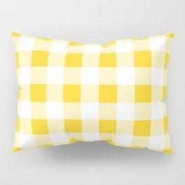 Yellow and White Buffalo Check Pillow Sham