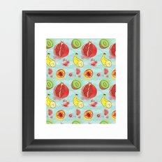 Fruit Cross-sections Framed Art Print