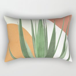 Abstract Agave Plant Rectangular Pillow