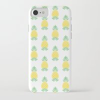 pineapple iPhone & iPod Cases featuring Pineapple by Jacqueline Maldonado