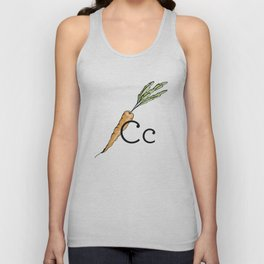 Fruit + Veggie Alphabet: Carrot Unisex Tank Top