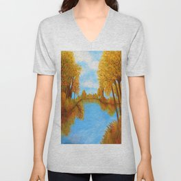 Autumn Reflections Unisex V-Neck