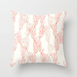 coral - warm pink Throw Pillow
