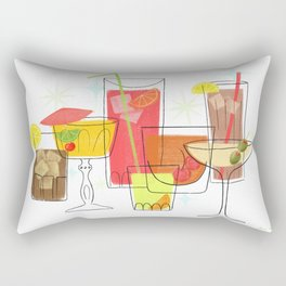 Swanky Summer Coolers Rectangular Pillow
