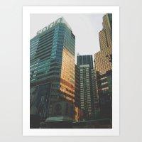 metropolis Art Prints featuring metropolis by Chaplin Wong