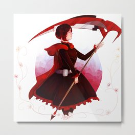 RUBY ROSE Metal Print