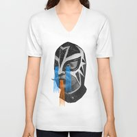hero V-neck T-shirts featuring HERO by DIVIDUS
