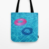 pool Tote Bags featuring Pool by Lama BOO