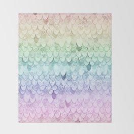 RAINBOW MERMAIDSCALES - MAGIC MERMAID Throw Blanket