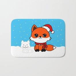 A Fox in the Snow Bath Mat
