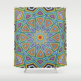 Islamic Geometry Shower Curtain