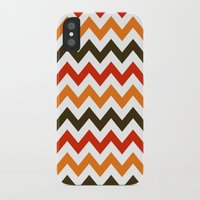 thanksgiving iPhone & iPod Cases featuring Thanksgiving Chevron by Designs By Misty Blue (Misty Lemons)