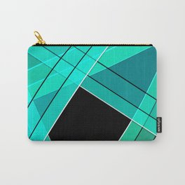 Turquoise silk Carry-All Pouch