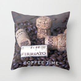 COFFEE & CORK Throw Pillow