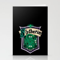slytherin Stationery Cards featuring Slytherin by Zeynep Aktaş