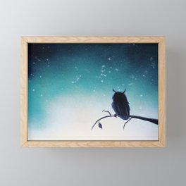 Owl Silhouette Framed Mini Art Print