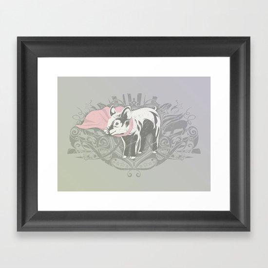 Fearless Creature: Oinx Framed Art Print