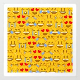 Emojis Art Print
