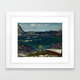 The Harbor, Monhegan Coast, Maine, 1913 Framed Art Print