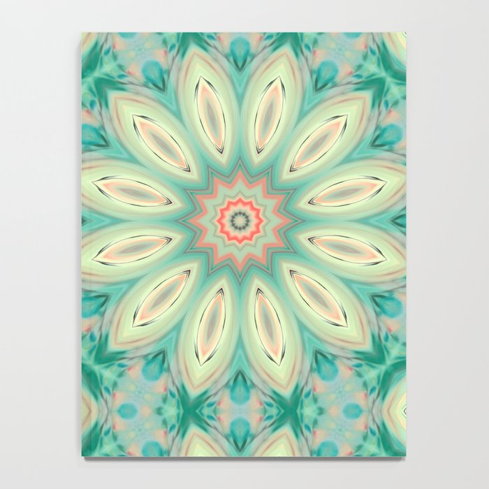 Daisy. Ornament bright turquoise . Notebook