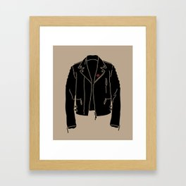 Leather Jacket - HANDSOME DEVIL'S CLUB (3/3) Framed Art Print