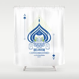 Delirium Ace of Spades Shower Curtain