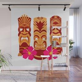 Tiki Statues Set Wall Mural