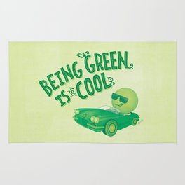 Being Green is Cool Rug