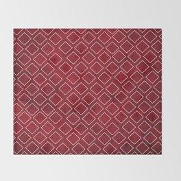 Deep Red Diamond Impressions Home Decor Throw Blanket