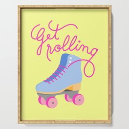 Get Rolling (Yellow Background) Serving Tray