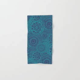 Tossed Blue mandalas Hand & Bath Towel