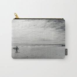 surfer on solana beach, san diego, california Carry-All Pouch