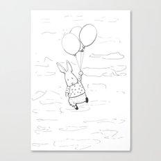 Rabbit sketch Canvas Print
