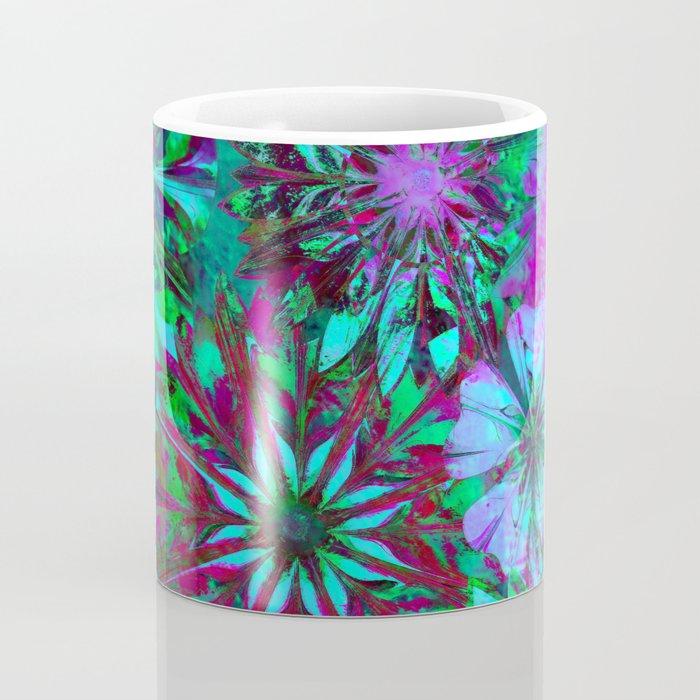 Rivalry of Flowers - green & lilac Coffee Mug