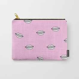 Pink Lips illustration Carry-All Pouch