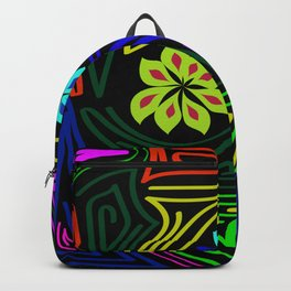 bands of color around the flowers Backpack