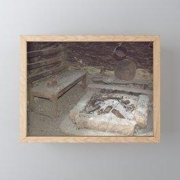 the village fireplace Framed Mini Art Print