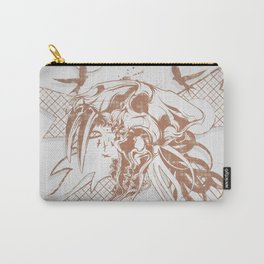 Bronze Animal Skull Abstract Vector Art Carry-All Pouch
