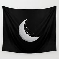 cookie Wall Tapestries featuring Moon cookie by Tony Vazquez