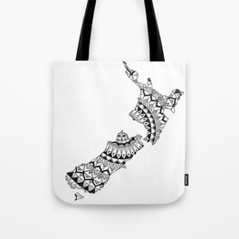 New Zealand Mandala Tote Bag