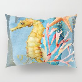Watercolor Under Sea Collection: Seahorse Pillow Sham