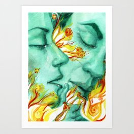 Love breathing Art Print