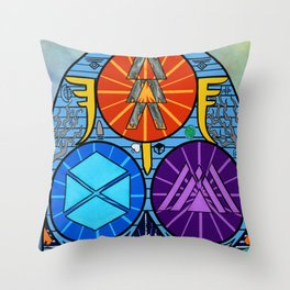 Shattered Vanguard Throw Pillow