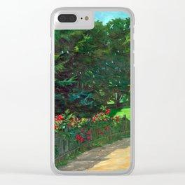 Wilhelm Trübner Landscape Clear iPhone Case