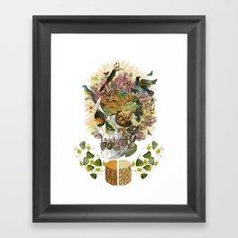 """memento mori"" anatomical collage art by bedelgeuse Framed Art Print"