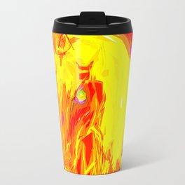 Fire Unicorn Metal Travel Mug