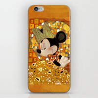 gustav klimt iPhone & iPod Skins featuring Minnie Mouse - Gustav Klimt Style by Zimeta