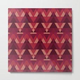 Geometric - Magenta Metal Print