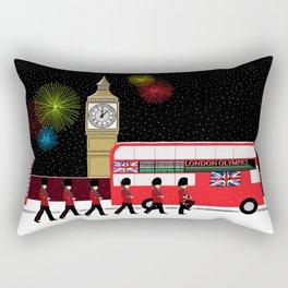 Queen's Guards at Big Ben Rectangular Pillow